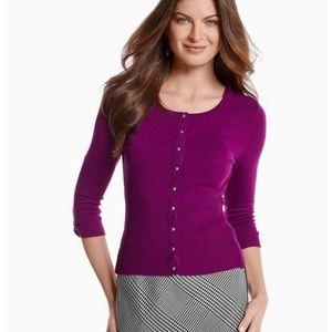 WHBM Purple Amethyst Sweater Cardigan Jacket